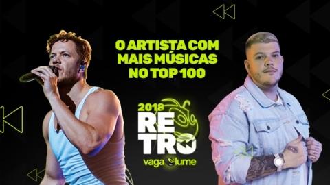 92b6cca2273 Retrô Vagalume 2018  Os artistas com mais músicas no Top 100